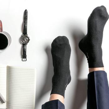 舒跑男士商务长袜子纯棉四季秋冬季超薄款抗菌防臭中筒皮鞋短袜筒双针Z023