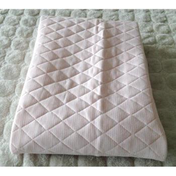 粉色凉感含中空棉反面三明治透气网眼面料床垫床单100*205