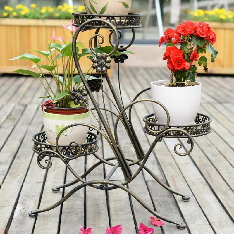 铁艺落地欧式 花架子
