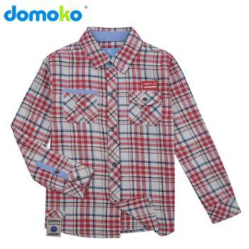 大拇哥童装 2015新款秋装男童格子衬衫 纯棉时尚衬衫933110601
