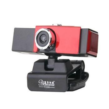 蓝色妖姬T3200摄像头免驱高清电脑USB视频头带麦克风话筒(玖融分期购)