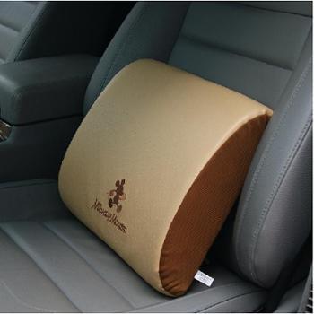 迪士尼米奇记忆棉汽车头枕腰靠套装车用护颈枕靠枕