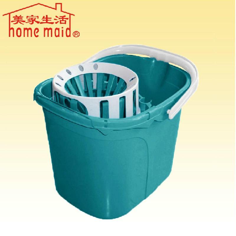 美家生活妈妈手压旋转拧水桶 储水方形桶 拖把挤水桶