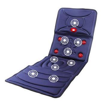 恩隆多功能按摩靠垫颈肩背腰部床垫震动仪全身保健器材老年人按摩椅垫(玖融分期购)