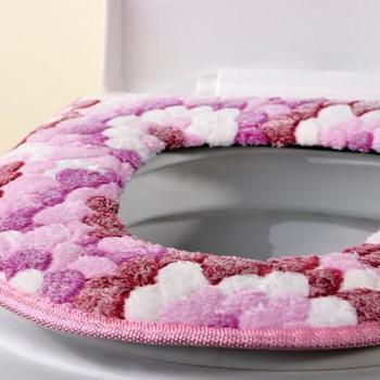 马桶垫座坐垫马桶贴坐便器套防水圈加厚毛绒通用粘贴式厕所卫生间