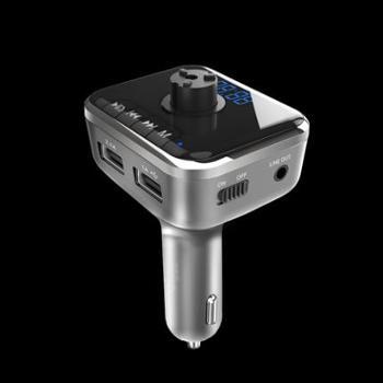 车载MP3播放器蓝牙免提电话汽车音乐u盘FM发射点烟器式车载充电器