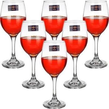 柯瑞经典款红酒杯6只装家用玻璃酒杯酒店高脚杯果汁杯葡萄酒杯