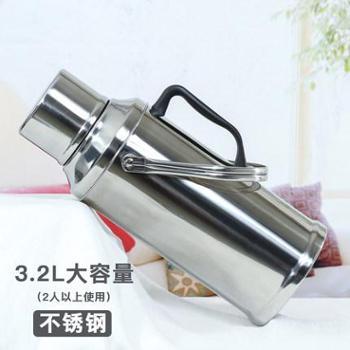 亘亮家用热水瓶暖水瓶不锈钢保温瓶暖壶婚庆3.2L开水瓶玻璃内胆