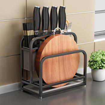 奥的不锈钢刀架厨房用品砧板菜刀架菜板刀具架子刀座置物架