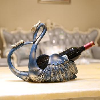 新婚结婚礼物欧式天鹅红酒架装饰品酒柜摆件创意实用摆设工艺品