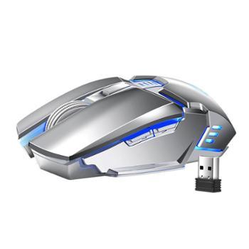 新盟可充电无线鼠标机械笔记本电脑台式电竞游戏办公无限苹果华硕通用电池移动女生男生家用专用静音无声