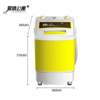6.5KG迷你洗衣机小型单筒桶带甩干脱水儿童半全自动宿舍家用小