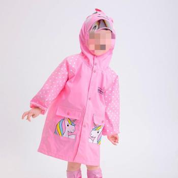 儿童雨衣男童女童小恐龙幼儿园宝宝小孩小学生中大童雨披加厚防风