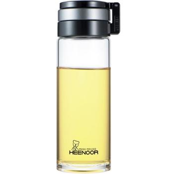 希诺玻璃杯单层加厚车载户外大容量便携提环水杯耐热过滤泡茶杯子