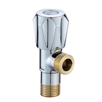 全铜加厚三角阀冷热马桶热水器精黄铜加长止水阀八字阀门通用角阀