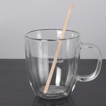 啡忆单支独立包装咖啡搅拌棒木质棒一次性饮料棒1419CM100支装