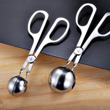 不锈钢肉丸子制作器模具DIY做鱼丸虾球炸牛肉汆丸小工具厨房利器