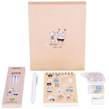 得力文具68886A中小学生文具套装韩风创意简约铅笔中性笔书写礼盒