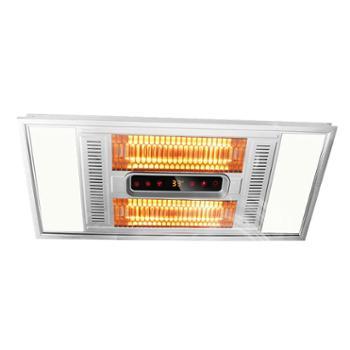 集成吊顶碳纤维风暖浴霸卫生间灯暖嵌入式多功能浴室黄金管三合一