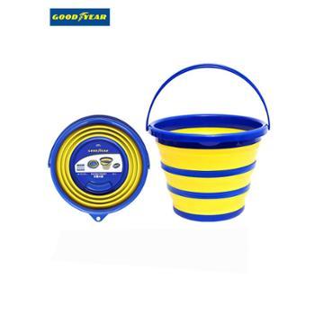 固特异车用折叠水桶旅行便携式软硅胶钓鱼桶户外储水桶压缩洗车桶