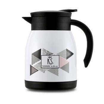 KS保温壶家用办公欧式时尚潮流不锈钢保温瓶热水瓶暖壶KS-653暖白600ml