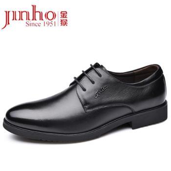 金猴皮鞋男商务正装鞋系带小尖头鞋新款春秋季英伦风潮鞋男鞋SQ25028A