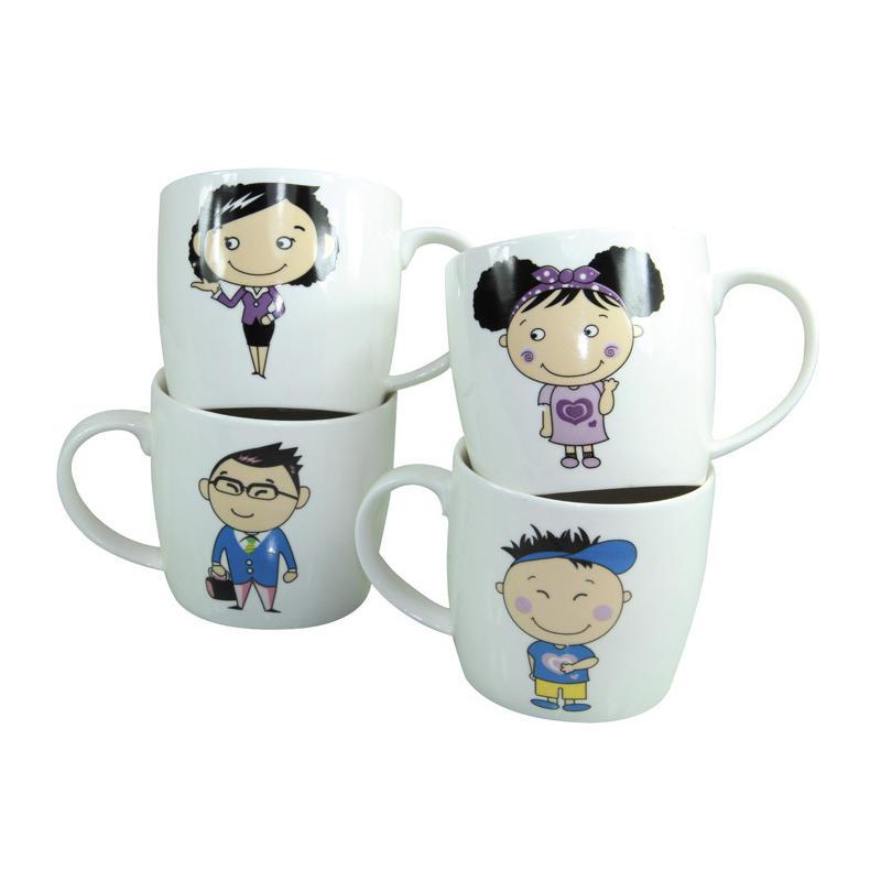 家庭亲子杯 陶瓷杯子 情侣 创意 咖啡杯 水杯 情侣对