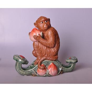 """新美陶""""石湾美陶""""牌猴年生肖品-称心如意"""