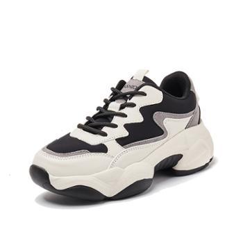 韩版时尚运动休闲鞋厚底增高女鞋加绒保暖女学生鞋WKM05