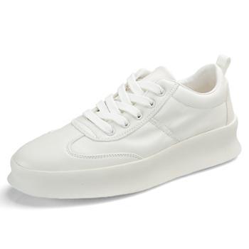 男士百搭小白鞋男鞋 休闲白色厚底增高休闲鞋765