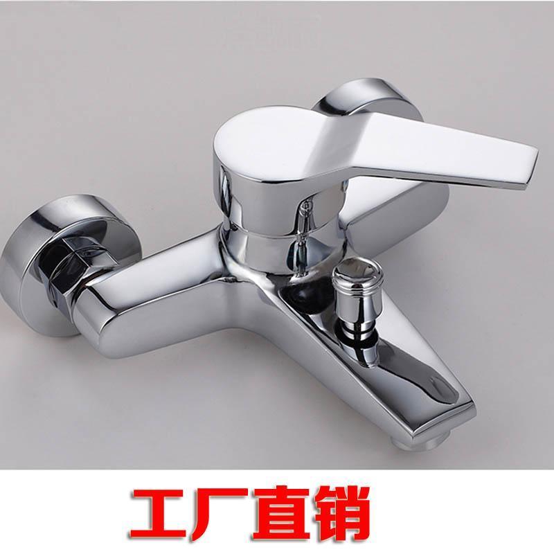 全铜淋浴浴缸冷热水 开关混水阀沐浴龙头 沐浴套装 带下出水图片