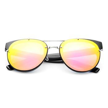 时光一百Smileyes系列时尚潮款细框彩膜反光太阳镜(男女同款)TSGL020