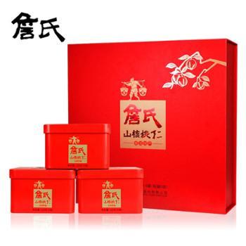 詹氏山核桃仁礼盒120gx4罐红动中国红礼盒山核桃礼盒坚果大礼包