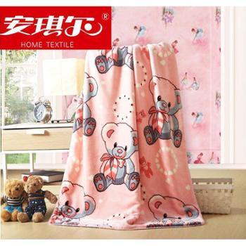 安琪尔家纺 全棉印花童毯 双层超柔绒毯