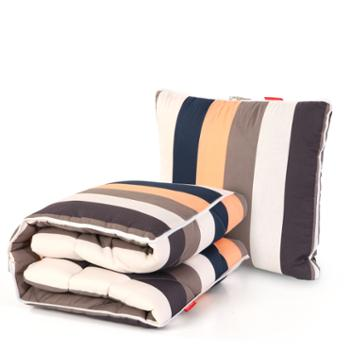 安琪尔家纺纯棉汽车两用被子 沙发靠垫被办公室午睡靠枕头抱枕被加厚四季可用空调被