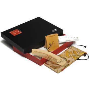 谭木匠 礼盒彩绘心情(眺) 镜梳 送女生 创意生日礼物 包邮
