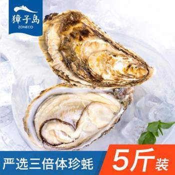 獐子岛生蚝大连鲜活牡蛎约5斤杜蛎海鲜严选三倍体