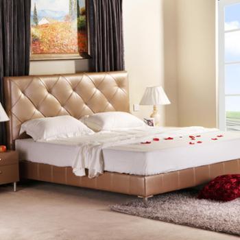 ama 结婚床 真皮床 现代简约 床 双人床 1.8米 安妮