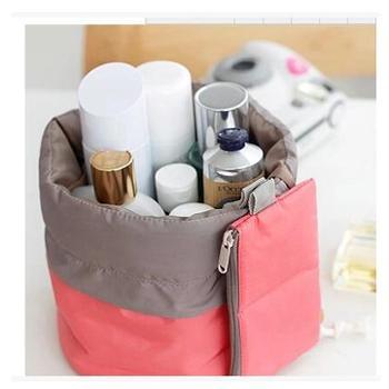 iconis圆筒式大容量分层防水旅行洗漱化妆包化妆品收纳包收纳袋女