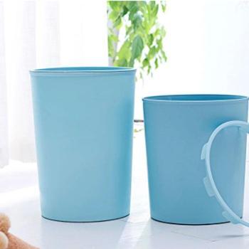 创意时尚带压圈大号厨房垃圾桶无盖酒店家用客厅卧室卫生间垃圾筒