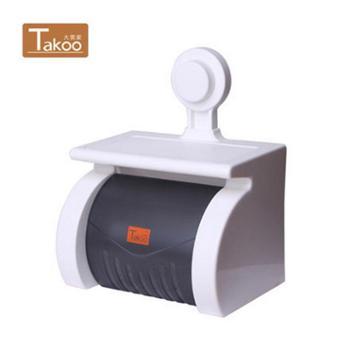 大莞家卫生间纸巾盒纸巾架吸盘厕纸盒免打孔卷纸筒厕所卫生纸盒