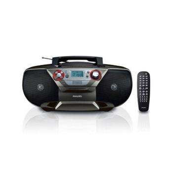 飞利浦(PHILIPS)AZ5740/93 DVD播放机 CD机 手提便携复读机 U盘播放器 收录机 可接电视音响(黑色)