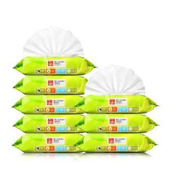 好孩子(Goodbaby)橄榄滋养婴儿卫生湿巾80片(带盖)8连包WL0009