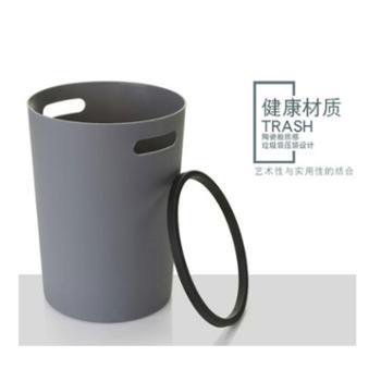 瓯越人家创意简约时尚垃圾桶压圈收纳桶厨房客厅卫生间卧室垃圾桶