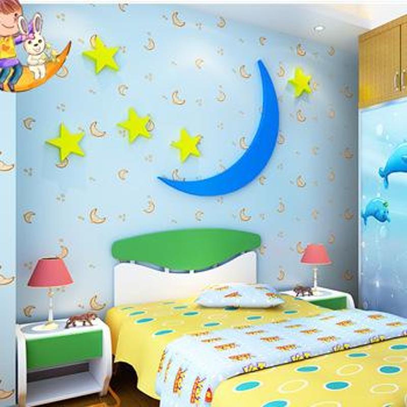 卡通星星月亮蓝色