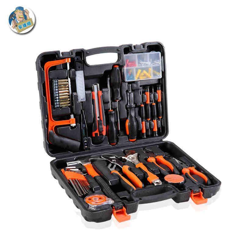 五金工具组套 电工木工维修工具箱盒组合tt