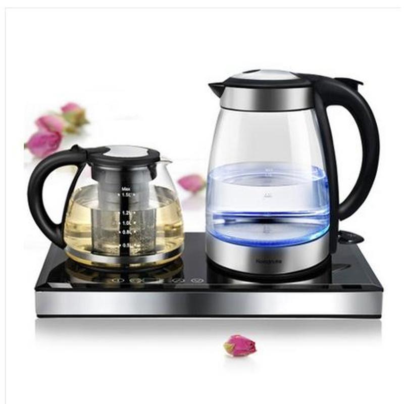 品牌正品新款自动断电电热水壶套装保温玻璃煮茶器tl