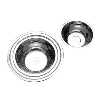 欧圣美OSM 304不锈钢盆碗圆形打蛋盆家用食堂汤盆和面铁洗菜盆四件套 M-1101