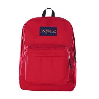 【12期免息】JANSPORT 杰斯伯 男女款双肩背包 校园休闲包书包 T5015XP西瓜红