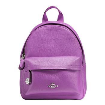 蔻驰(COACH)女包 女士双肩包 休闲迷你双肩背包 F37590 紫色(SV/OD)